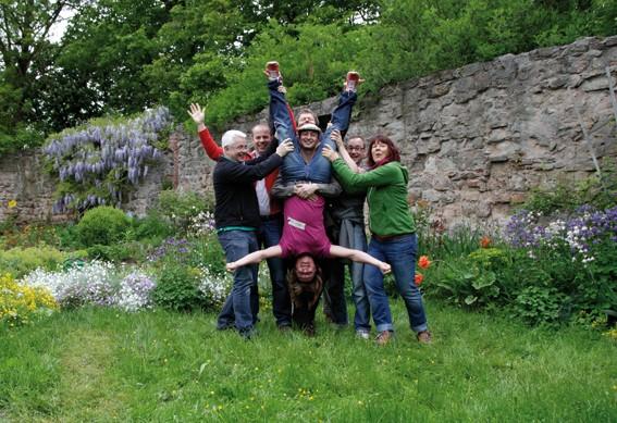 glückliche Teilnehmer, Harmonie, stressfrei, Wachstum